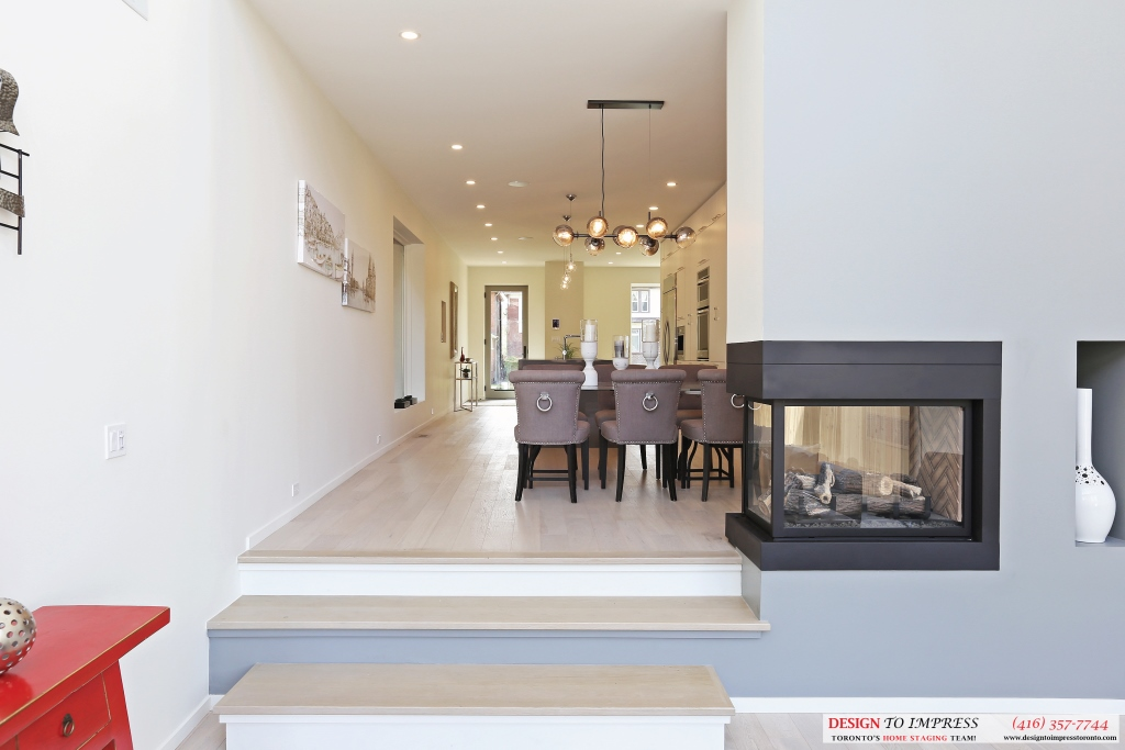 Family Room to Dining Room, 75 Parkway, Toronto Home Staging