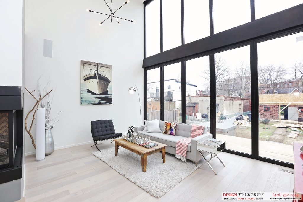 Family Room Window, 75 Parkway, Toronto Home Staging