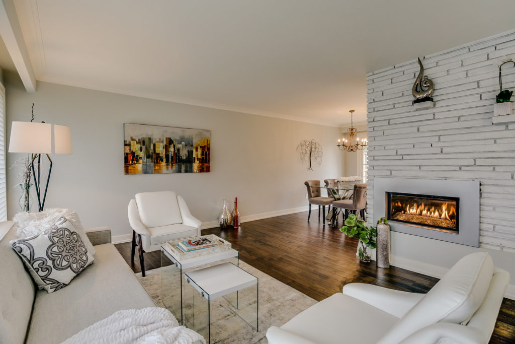 Fireplace, 26 Boxbury, Etobicoke Home Staging