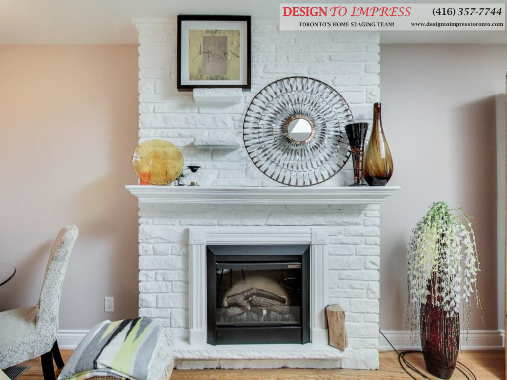 Fireplace, 41 Bournville, Scarborough Home Staging