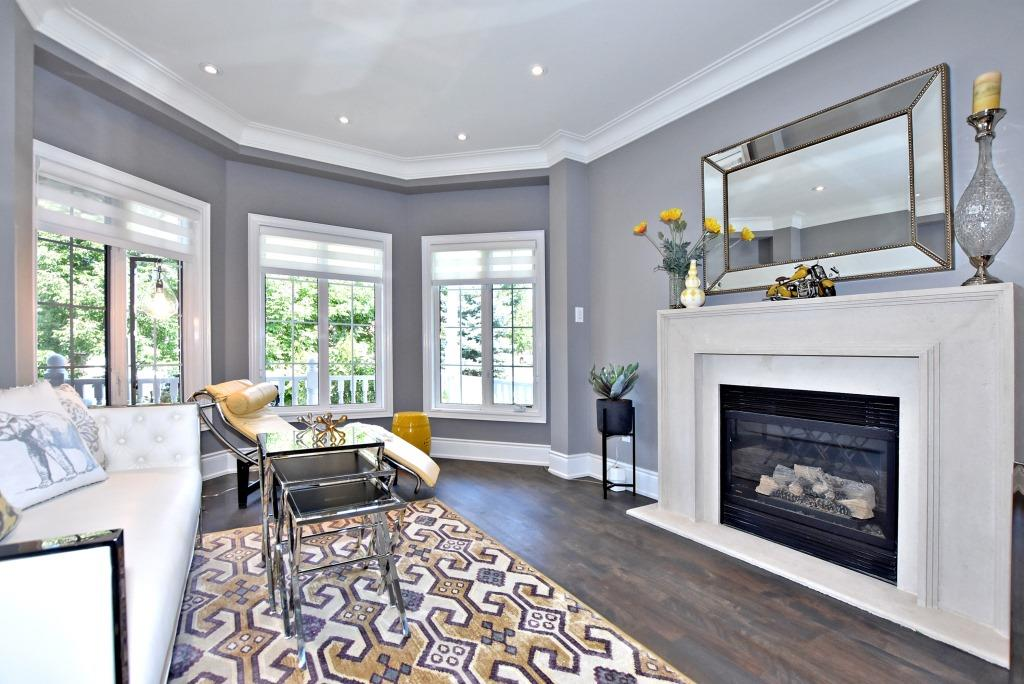Fireplace, 91 Wheeler, East York Home Staging