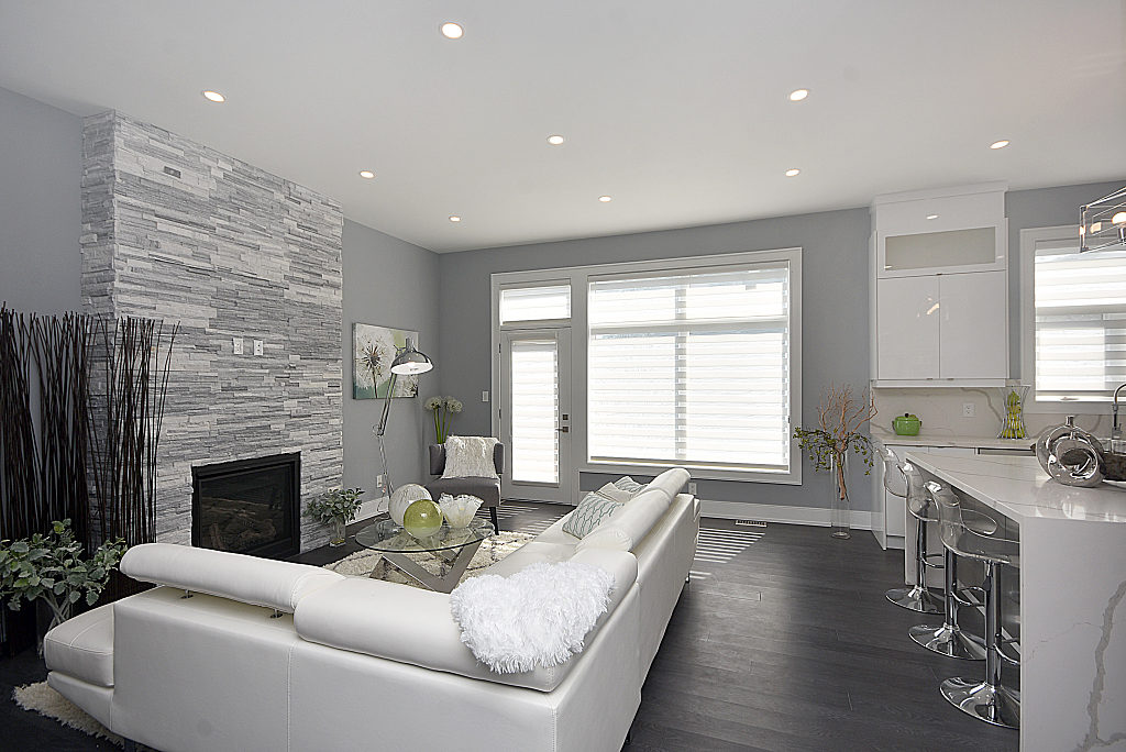 Fireplace in Living Room, 948 Third, Mississauga Home Staging