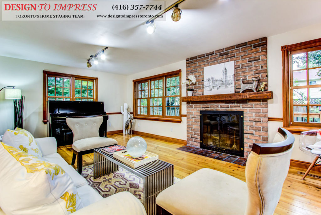 Fireplace Mantel, 133 Huntington Park, Thornhill Home Staging