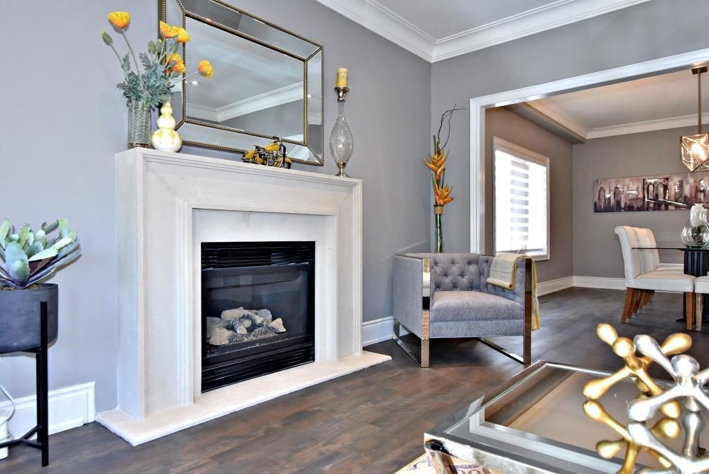 Fireplace Mantle, 91 Wheeler, East York Home Staging