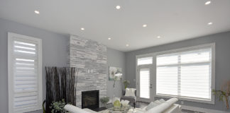 Fireplace Windows, 948 Third, Mississauga Home Staging