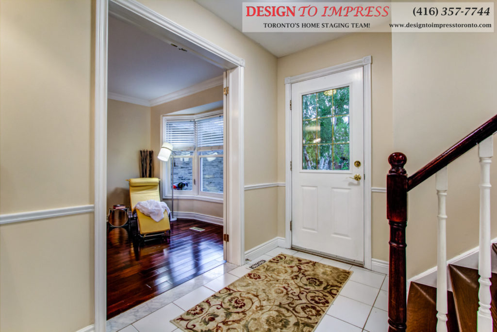 Front Door Interior, 133 Huntington Park, Thornhill Home Staging