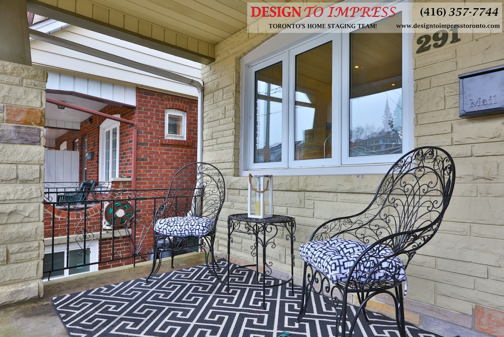 Front Porch, 291 Springdale, Toronto Home Staging
