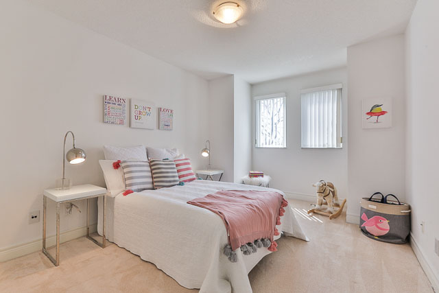 Girl's Bedroom, 5418 Yonge St., Toronto Home Staging