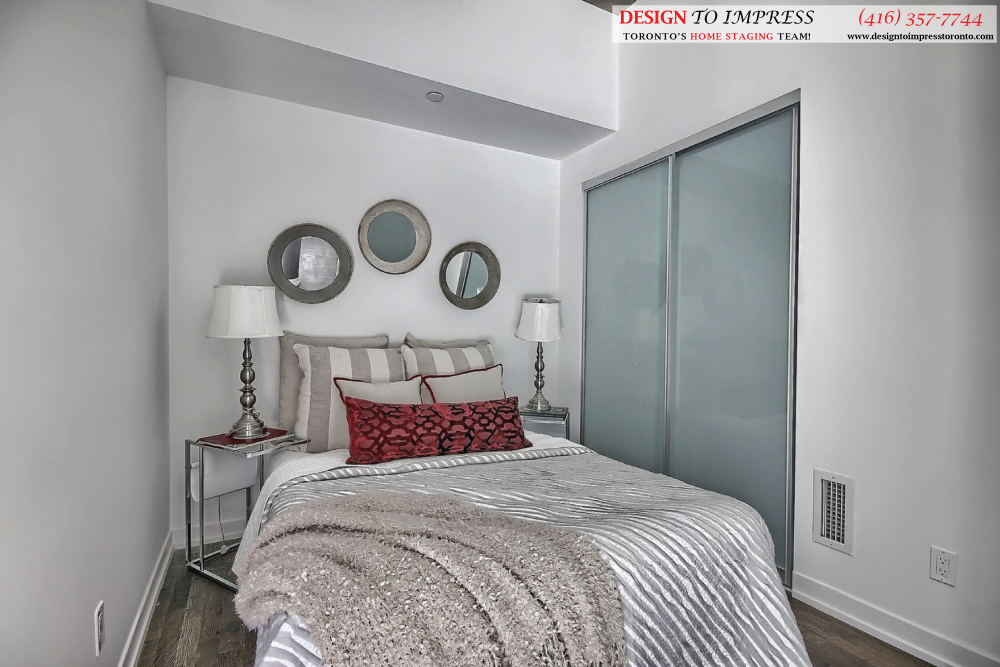 Guest Bedroom, 461 Adelaide, Toronto Condo Staging