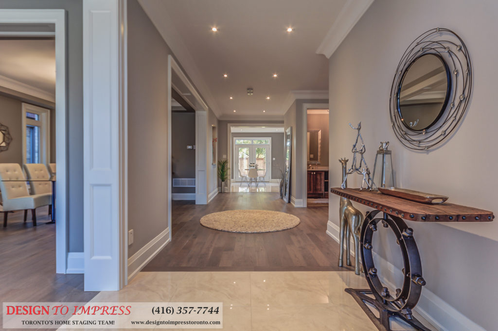 Hallway, 1297 Fawndale, Pickering Home Staging