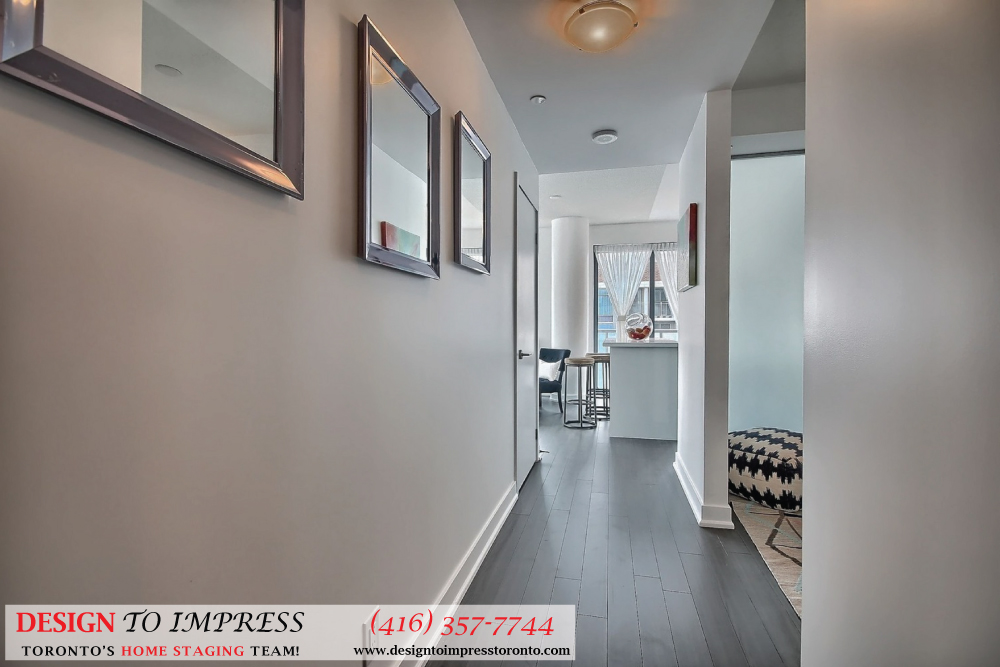 Hallway View, 1815 Yonge, Toronto Condo Staging