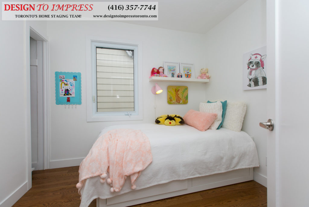 Kids Bedroom, 291 Springdale, Toronto Home Staging