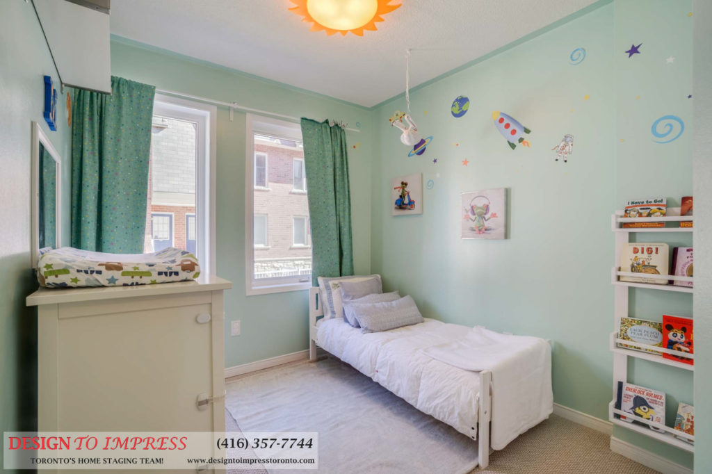 Kids Room Window, 31 Foundry, Toronto Home Staging