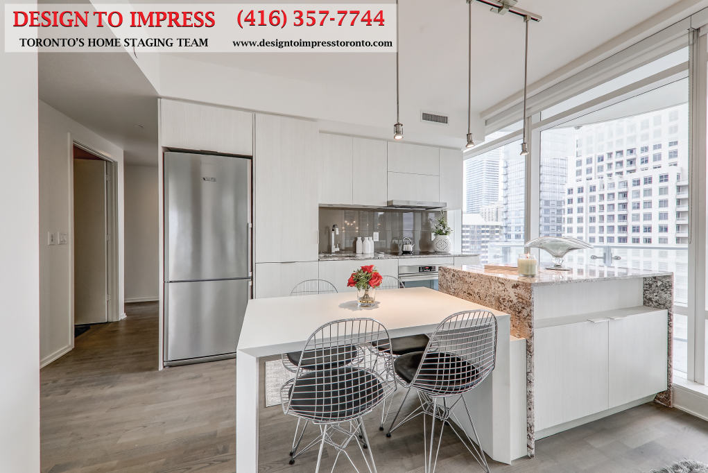 Kitchen, 1 Bloor St. East, Toronto Condo Staging