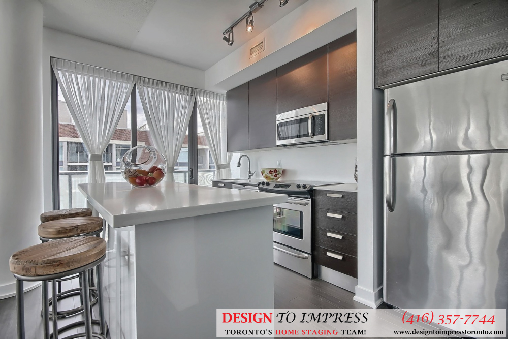 Kitchen, 1815 Yonge, Toronto Condo Staging