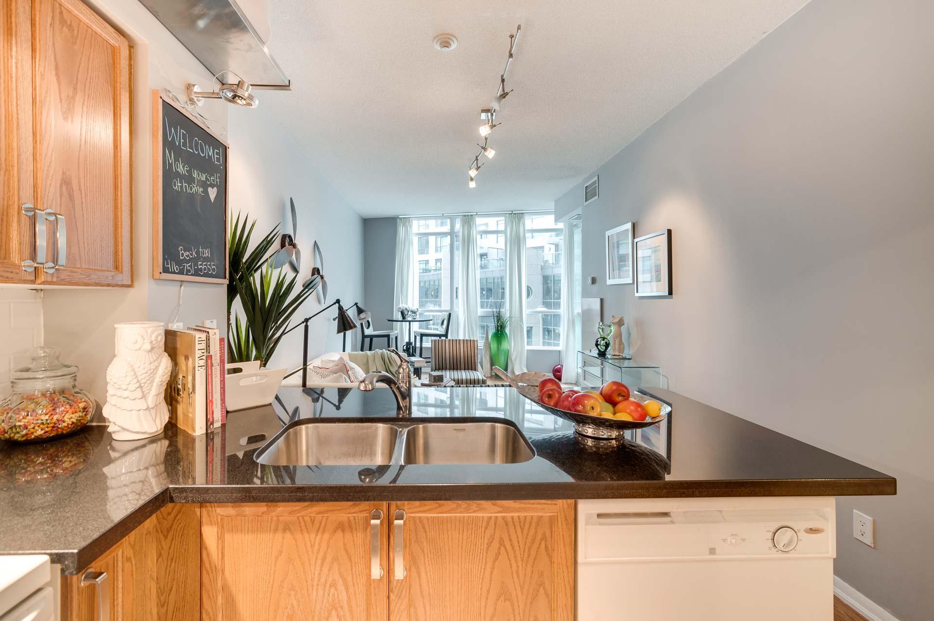 Kitchen, 231 Fort York, Toronto Condo Staging