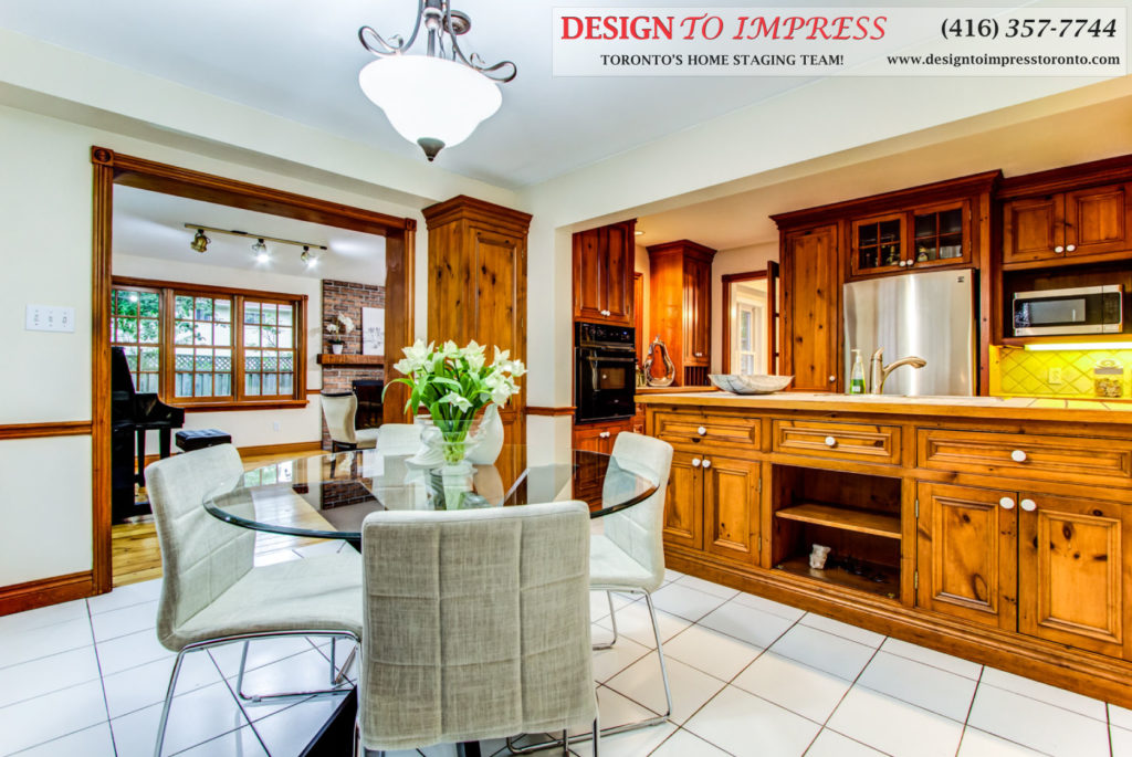 Kitchen Area, 133 Huntington Park, Thornhill Home Staging