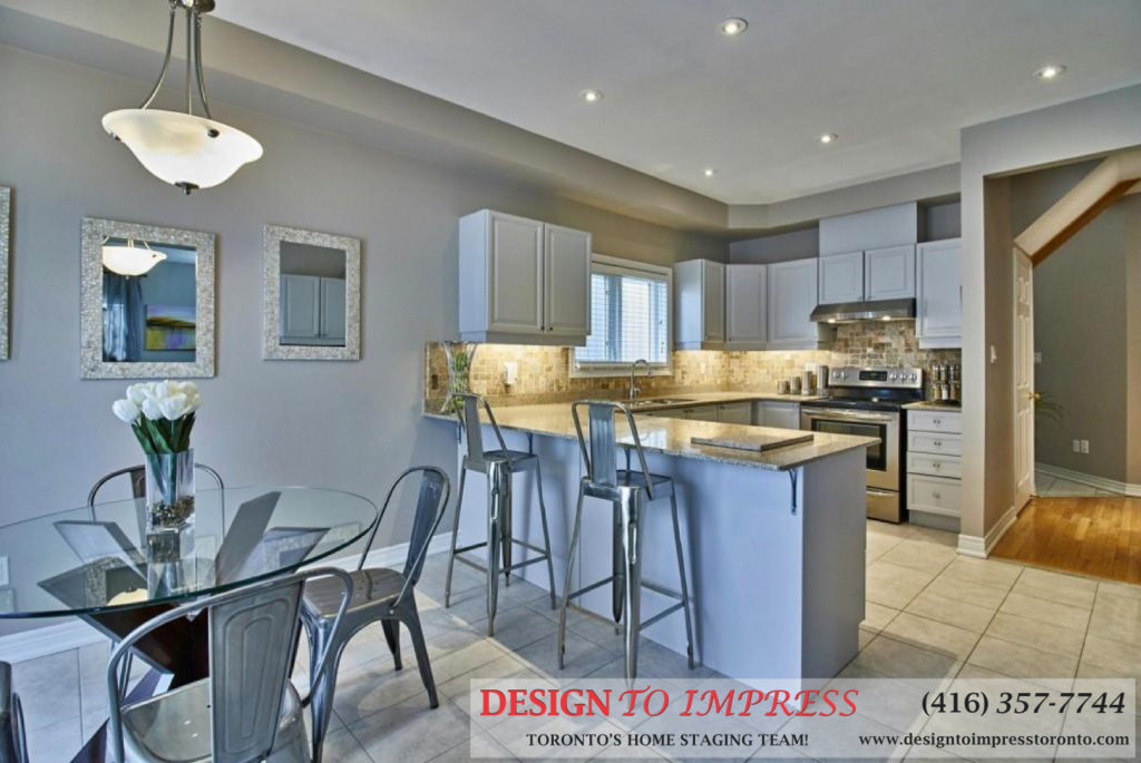 Kitchen Breakfast Bar, 84 Barchester, Whitby Home Staging