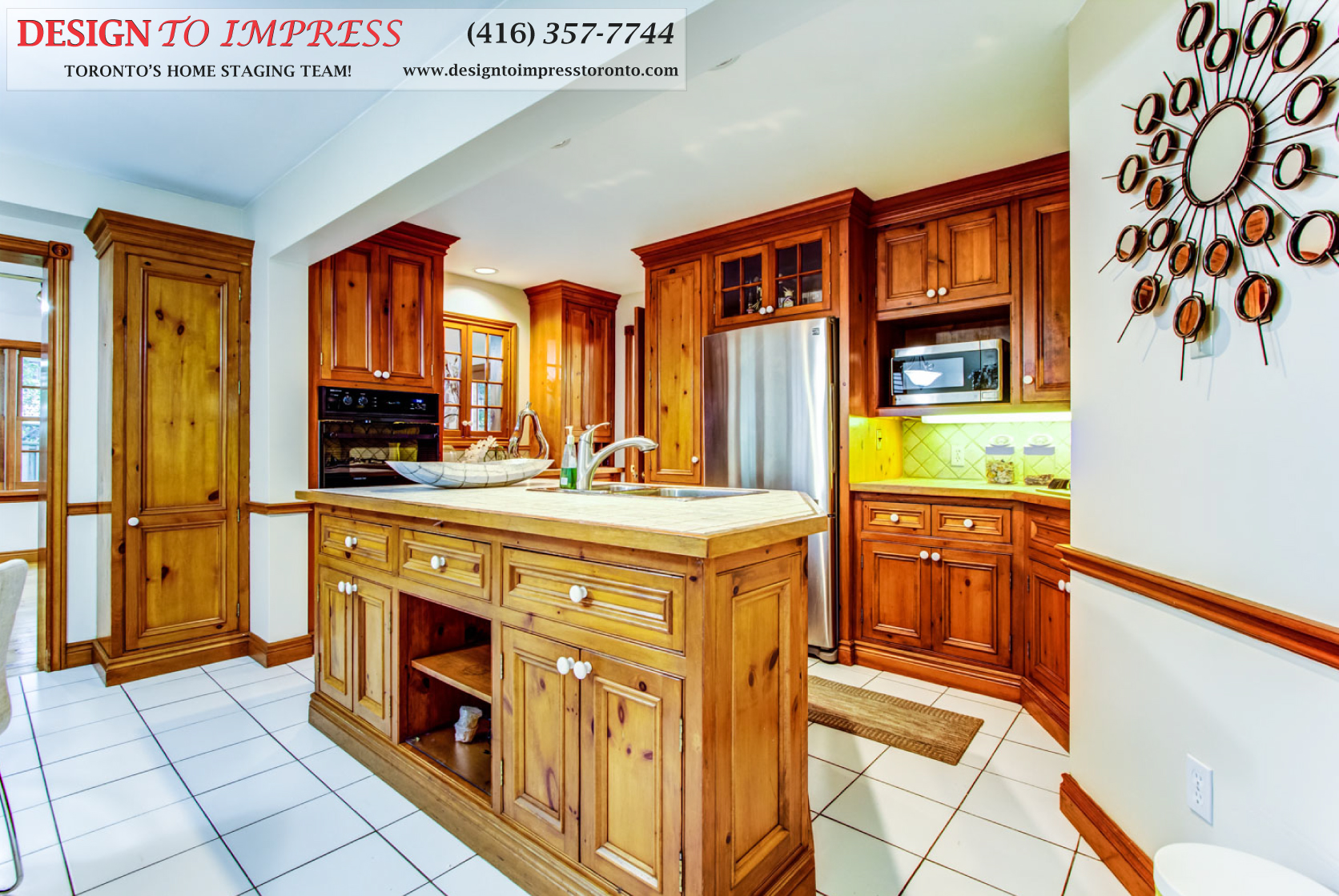 Kitchen Cabinets, 133 Huntington Park, Thornhill Home Staging