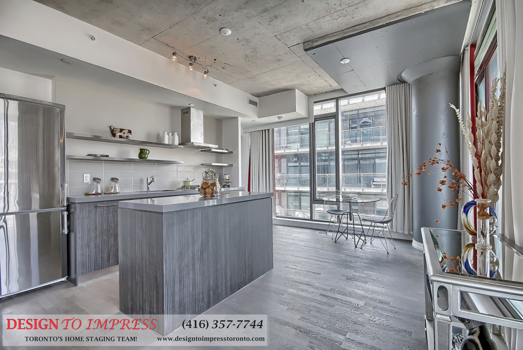 Kitchen, 560 King St. West, Toronto Condo Staging