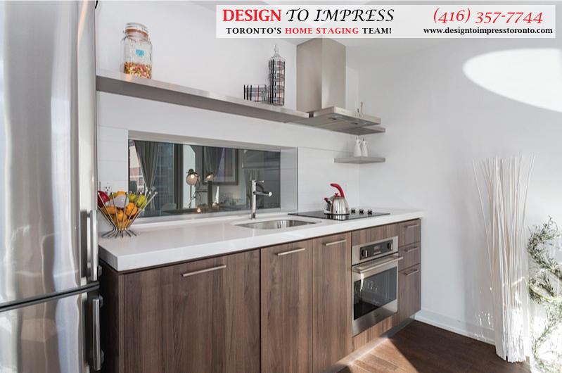 Kitchen Countertop, Fashion House, Toronto Condo Staging