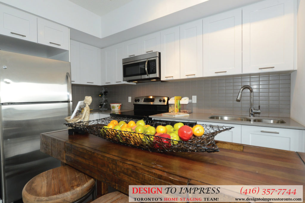 Kitchen Fridge, 2220 Lakeshore Blvd. West, Toronto Condo Staging