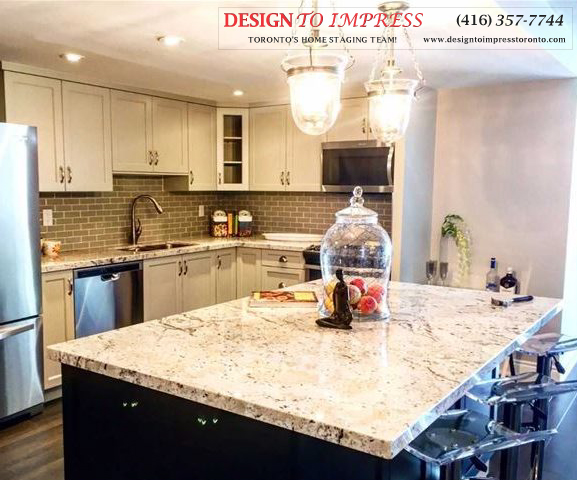 Kitchen Island, 2350 Bridletowne Circle, Scarborough Condo Staging