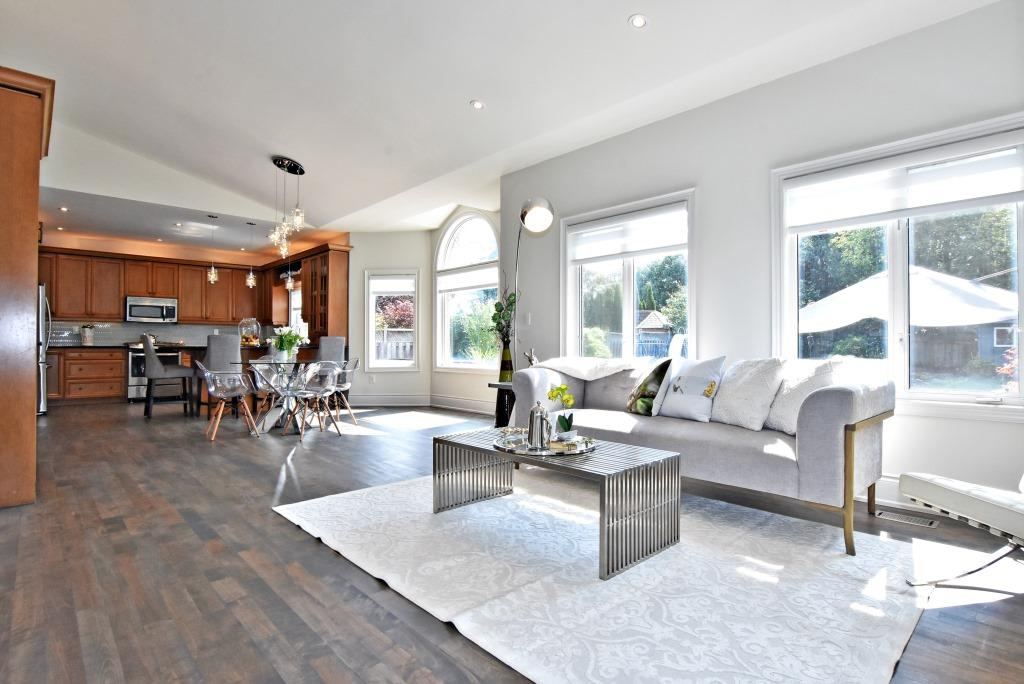 Kitchen and Living Room, 91 Wheeler, East York Home Staging