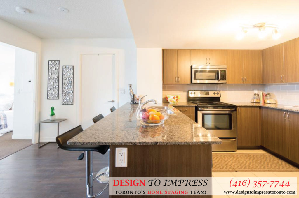 Kitchen and Living Room Border, 812 Landsdowne, Toronto Home Staging