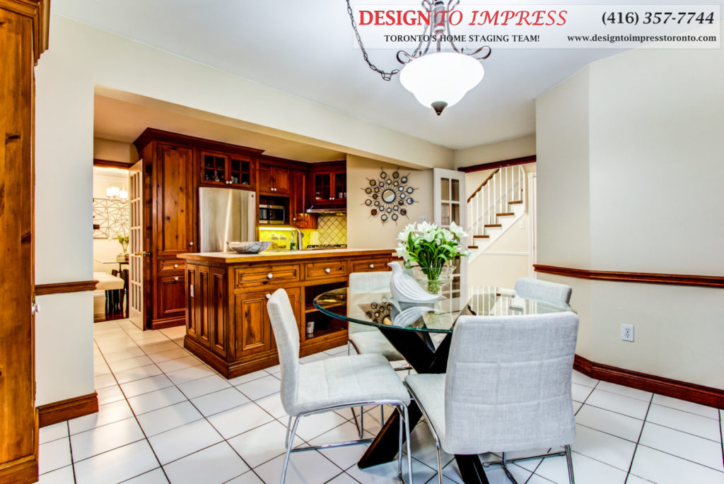 Kitchen Open Concept, 133 Huntington Park, Thornhill Home Staging