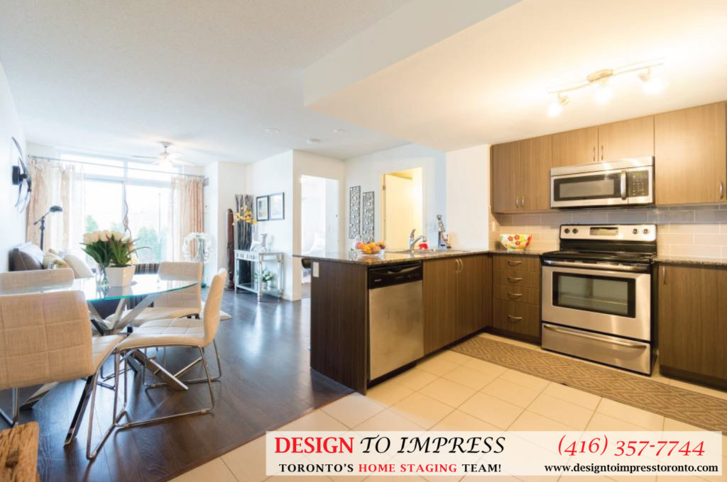 Kitchen Open Concept, 812 Landsdowne, Toronto Home Staging