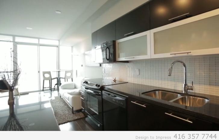 Kitchen, Simcoe St., Toronto Condo Staging