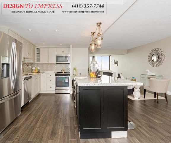 Kitchen Walkway, 2350 Bridletowne Circle, Scarborough Condo Staging
