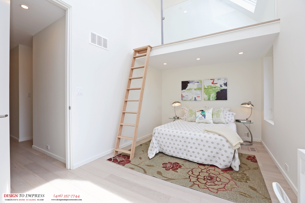 Ladder in Second Bedroom, 75 Parkway, Toronto Home Staging
