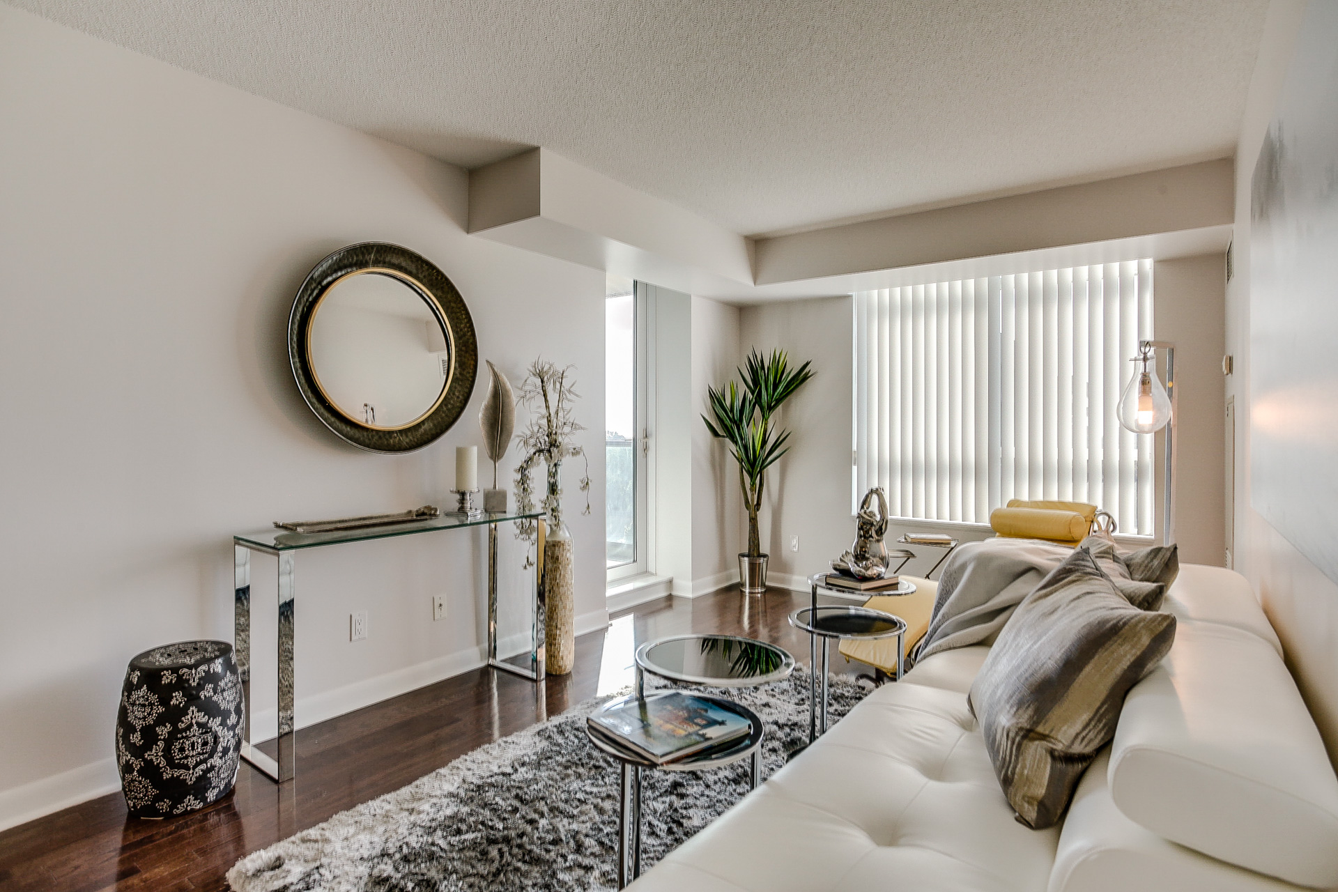 Living Area, 235 Sherway Gardens, Etobicoke Home Staging