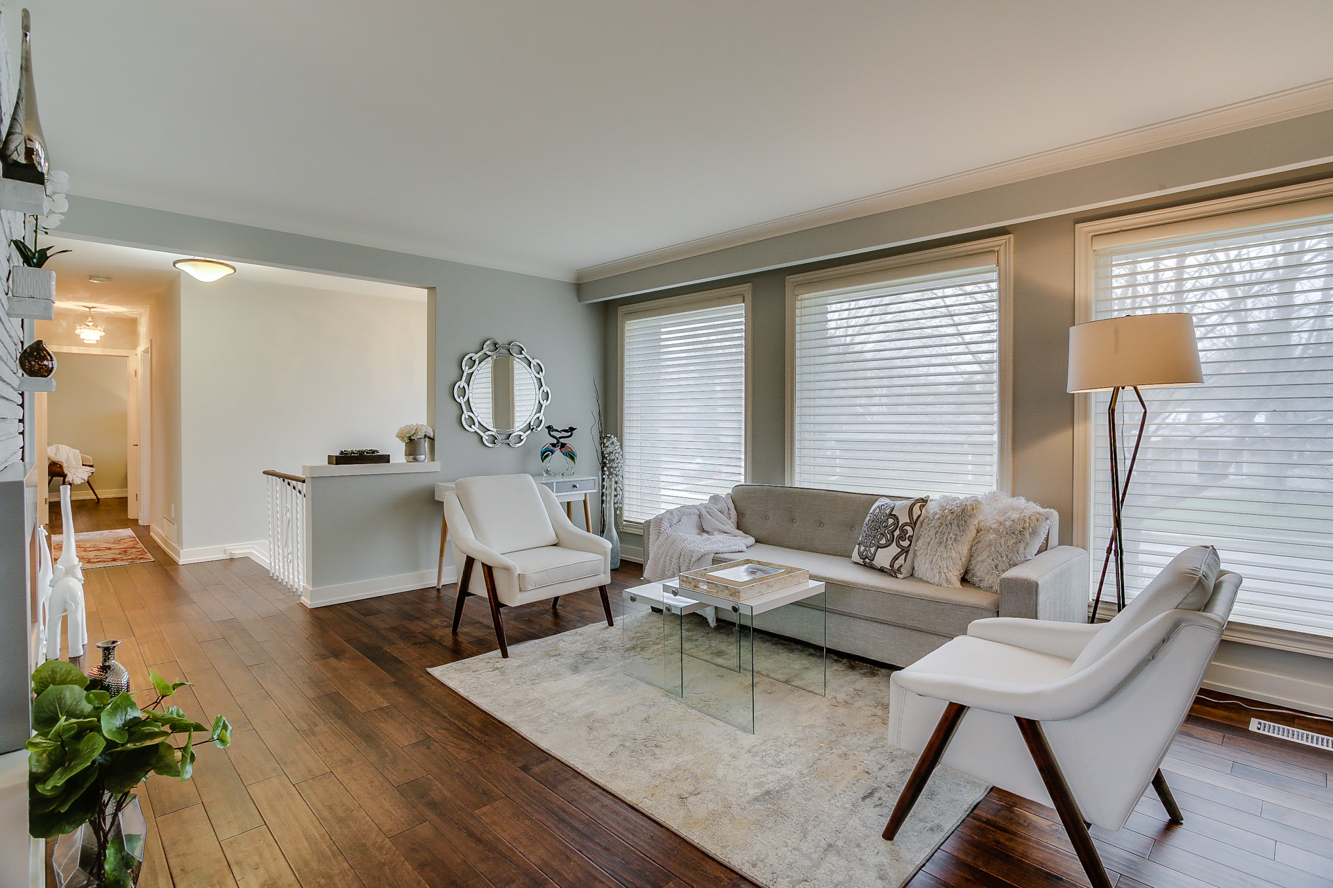 Living Area, 26 Boxbury, Etobicoke Home Staging