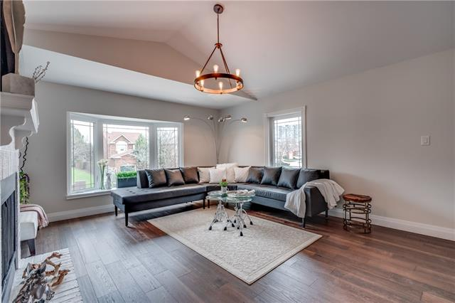 Living Area, 66 Springfield, Thornhill Home Staging