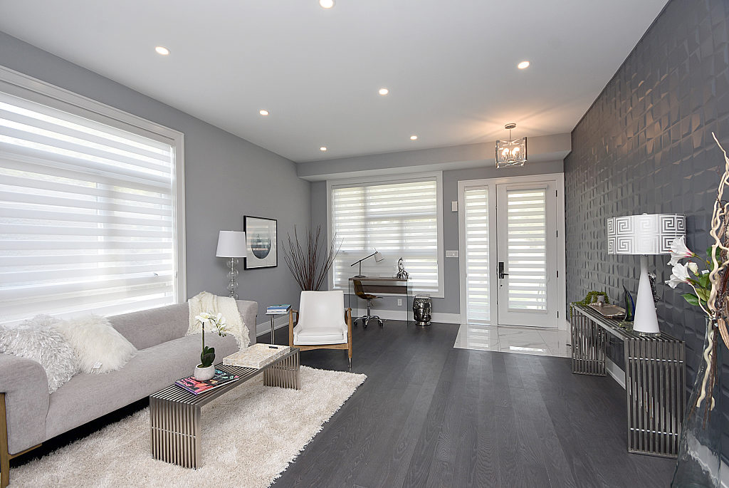 Living Room and Den, 948 Third, Mississauga Home Staging