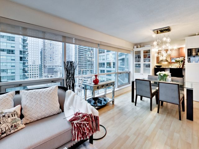 Living Room and Dining Room, 10 Yonge, Toronto Condo Staging