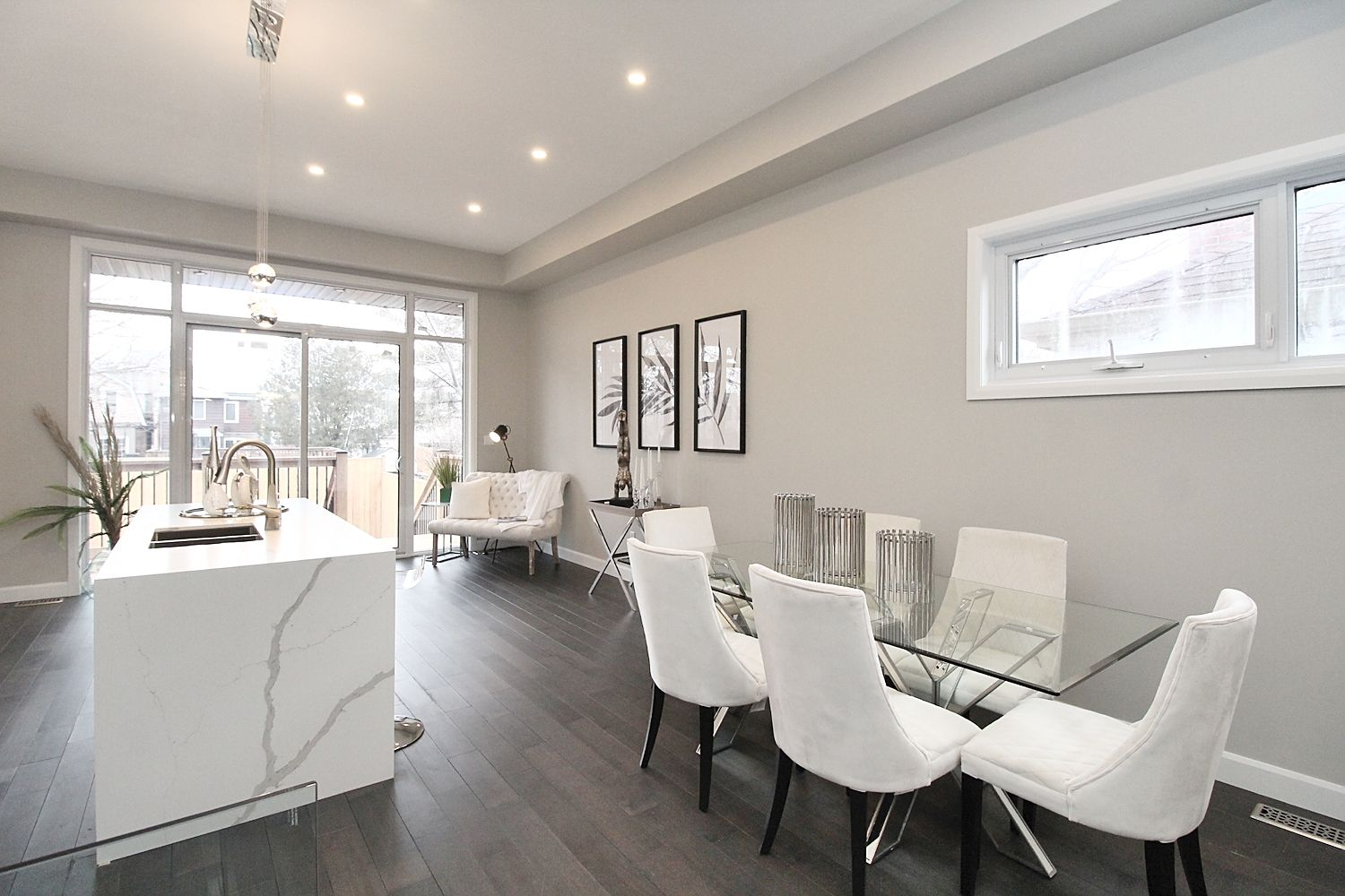 Living Room and Dining Room, 182 Oak Park, East York Home Staging