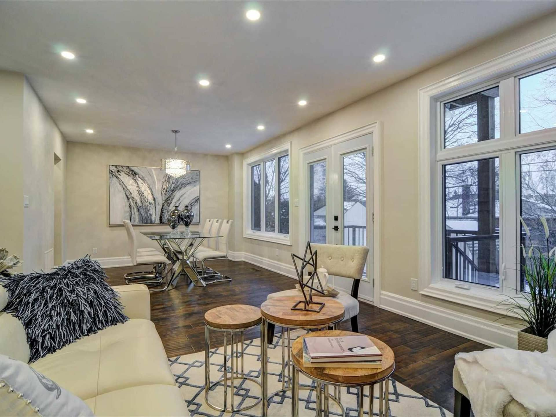 Living and Dining Room, 9 Lloyd Manor, Toronto Home Staging