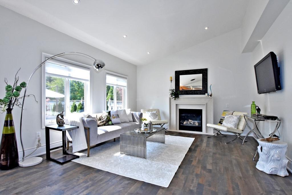 Living Room Floor, 91 Wheeler, East York Home Staging