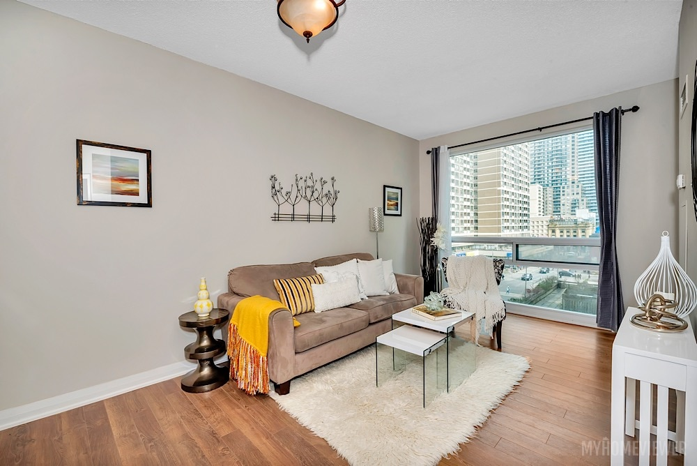 Living Room, 1121 Bay St., Toronto Condo Staging