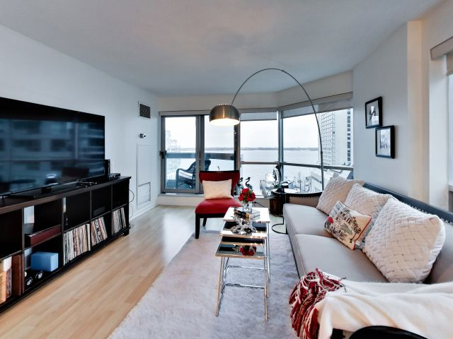 Living Room, 10 Yonge St., Toronto Condo Staging