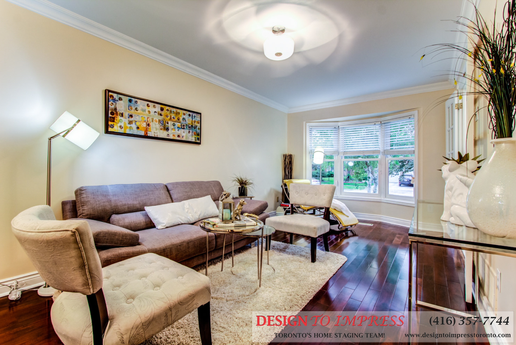 Living Room, 133 Huntington Park, Thornhill Home Staging