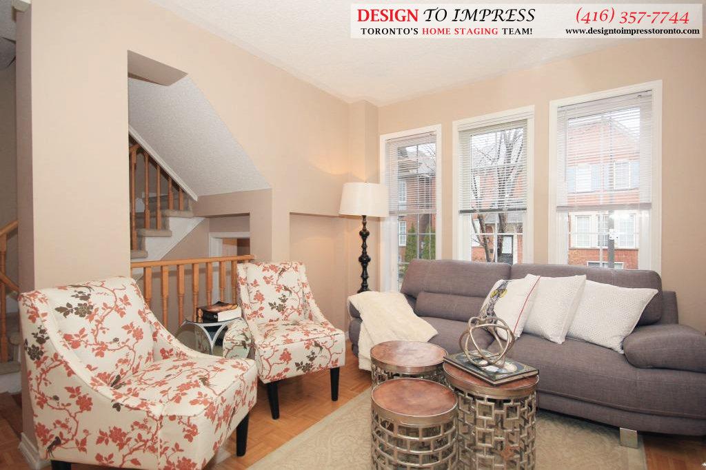 Living Room, 133 Tarragona, Toronto Home Staging