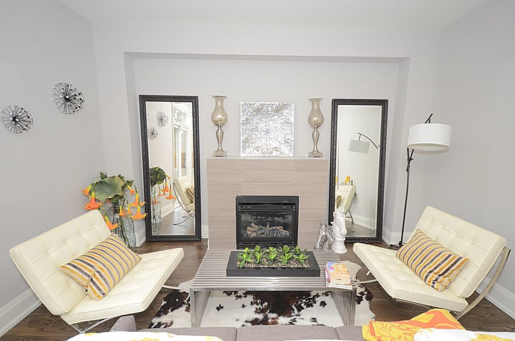 Living Room, 136 Brooklawn, Scarborough Home Staging