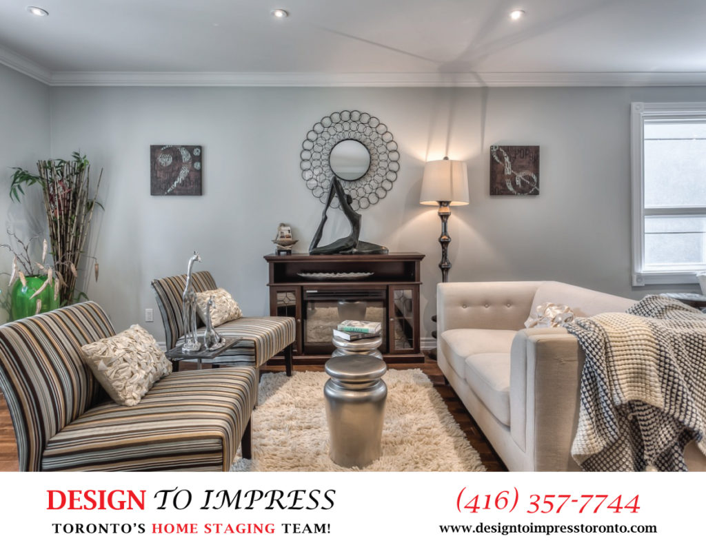 Living Room, 22 Rhodes, Toronto Home Staging