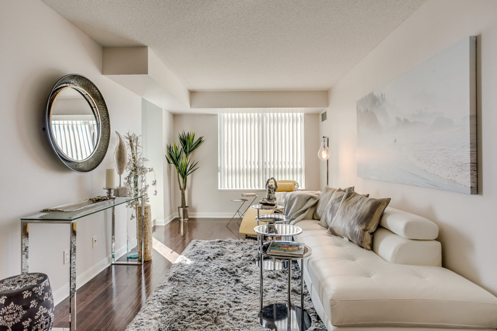 Living Room, 235 Sherway Gardens, Etobicoke Home Staging