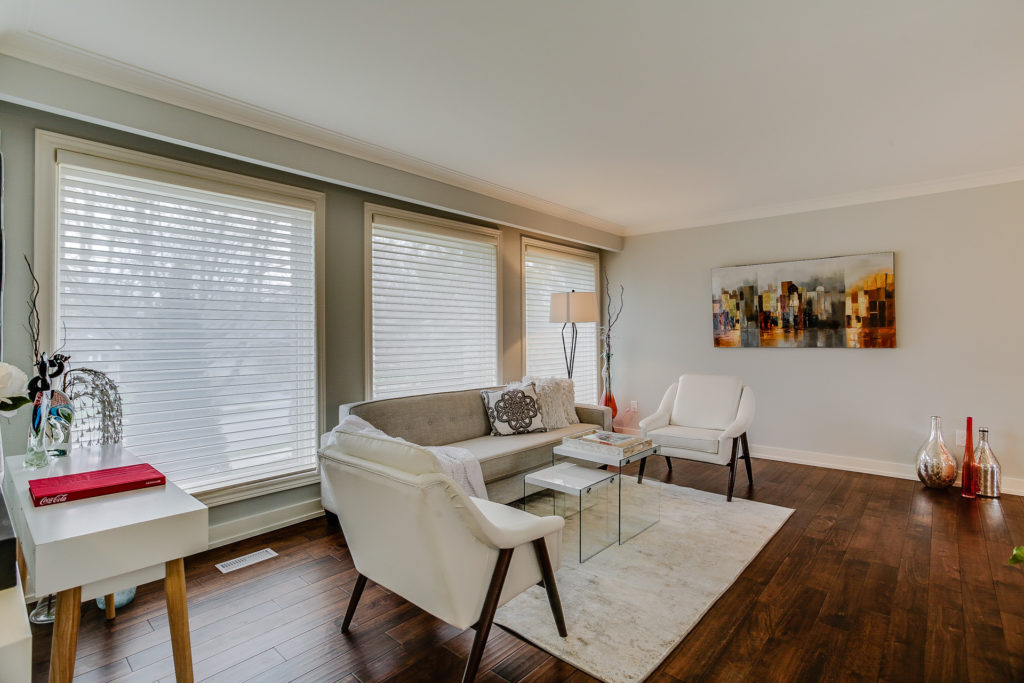 Living Room, 26 Boxbury, Etobicoke Home Staging